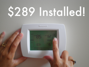 Honeywell VisionPRO 8000 thermostat for your air conditioning & heating supplies Raleigh NC